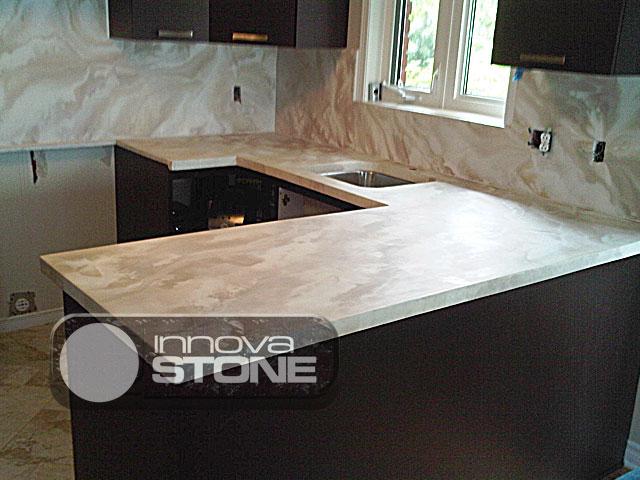 Innovastone - Faire un comptoir en beton ...